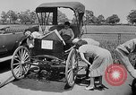 Image of antique automobile pageant Mineola New York USA, 1946, second 6 stock footage video 65675048282