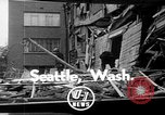 Image of wrecked apartment Seattle Washington USA, 1950, second 1 stock footage video 65675048287