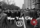 Image of anti-communist loyalty parade on Fifth Avenue New York City USA, 1950, second 1 stock footage video 65675048288