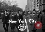 Image of anti-communist loyalty parade on Fifth Avenue New York City USA, 1950, second 2 stock footage video 65675048288