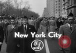 Image of anti-communist loyalty parade on Fifth Avenue New York City USA, 1950, second 3 stock footage video 65675048288