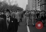 Image of anti-communist loyalty parade on Fifth Avenue New York City USA, 1950, second 4 stock footage video 65675048288
