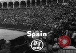 Image of bull fighting Seville Spain, 1950, second 3 stock footage video 65675048291