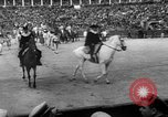 Image of bull fighting Seville Spain, 1950, second 9 stock footage video 65675048291