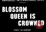 Image of Blossom Queen United States USA, 1950, second 1 stock footage video 65675048292