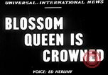 Image of Blossom Queen United States USA, 1950, second 2 stock footage video 65675048292