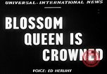Image of Blossom Queen United States USA, 1950, second 3 stock footage video 65675048292
