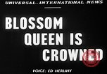 Image of Blossom Queen United States USA, 1950, second 5 stock footage video 65675048292