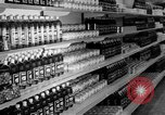 Image of supermarket Spain, 1956, second 10 stock footage video 65675048294