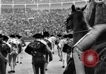 Image of bull fighting Spain, 1956, second 11 stock footage video 65675048297