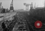 Image of concrete barges Portsmouth England, 1944, second 9 stock footage video 65675048314