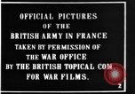 Image of British soldiers in Battle of the Somme France, 1916, second 3 stock footage video 65675048355