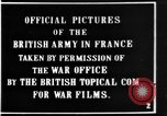 Image of British soldiers in Battle of the Somme France, 1916, second 4 stock footage video 65675048355
