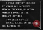 Image of British 18 pounder artillery battery firing France, 1916, second 1 stock footage video 65675048365