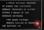 Image of British 18 pounder artillery battery firing France, 1916, second 2 stock footage video 65675048365