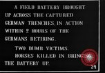 Image of British 18 pounder artillery battery firing France, 1916, second 7 stock footage video 65675048365