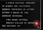 Image of British 18 pounder artillery battery firing France, 1916, second 9 stock footage video 65675048365