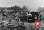 Image of British 18 pounder artillery battery firing France, 1916, second 11 stock footage video 65675048365