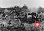 Image of British 18 pounder artillery battery firing France, 1916, second 12 stock footage video 65675048365