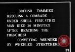 Image of British soldiers carry wounded comrades France, 1916, second 4 stock footage video 65675048369