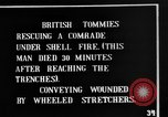 Image of British soldiers carry wounded comrades France, 1916, second 5 stock footage video 65675048369