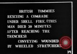 Image of British soldiers carry wounded comrades France, 1916, second 8 stock footage video 65675048369