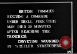 Image of British soldiers carry wounded comrades France, 1916, second 10 stock footage video 65675048369