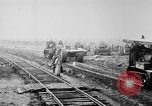 Image of Holts tractors moving heavy field guns France, 1918, second 4 stock footage video 65675048370