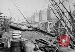Image of War supplies being unloaded from a freighter Bordeaux France, 1918, second 4 stock footage video 65675048371
