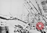 Image of War supplies being unloaded from a freighter Bordeaux France, 1918, second 7 stock footage video 65675048371