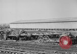 Image of Allied heavy field guns at ordnance yard Bordeaux France, 1918, second 8 stock footage video 65675048372