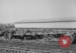 Image of Allied heavy field guns at ordnance yard Bordeaux France, 1918, second 9 stock footage video 65675048372