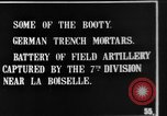 Image of British soldiers with captured German artillery La Boiselle France, 1916, second 2 stock footage video 65675048381