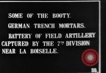 Image of British soldiers with captured German artillery La Boiselle France, 1916, second 3 stock footage video 65675048381