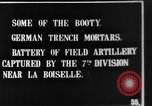 Image of British soldiers with captured German artillery La Boiselle France, 1916, second 5 stock footage video 65675048381