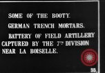 Image of British soldiers with captured German artillery La Boiselle France, 1916, second 6 stock footage video 65675048381