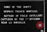 Image of British soldiers with captured German artillery La Boiselle France, 1916, second 7 stock footage video 65675048381