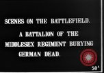 Image of Burial of dead German soldiers France, 1916, second 2 stock footage video 65675048391