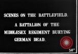 Image of Burial of dead German soldiers France, 1916, second 4 stock footage video 65675048391