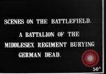 Image of Burial of dead German soldiers France, 1916, second 5 stock footage video 65675048391