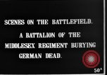 Image of Burial of dead German soldiers France, 1916, second 8 stock footage video 65675048391