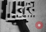 Image of Colt model 1911 semiautomatic pistol United States USA, 1918, second 3 stock footage video 65675048402