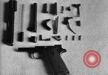 Image of Colt model 1911 semiautomatic pistol United States USA, 1918, second 4 stock footage video 65675048402
