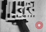 Image of Colt model 1911 semiautomatic pistol United States USA, 1918, second 6 stock footage video 65675048402