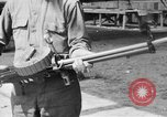 Image of Soldier displays a Lewis machine gun United States USA, 1918, second 3 stock footage video 65675048409