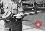 Image of Soldier displays a Lewis machine gun United States USA, 1918, second 5 stock footage video 65675048409