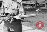 Image of Soldier displays a Lewis machine gun United States USA, 1918, second 6 stock footage video 65675048409