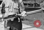 Image of Soldier displays a Lewis machine gun United States USA, 1918, second 10 stock footage video 65675048409