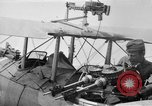 Image of Twin Lewis machine guns installed on DH-4 airplane Scarff ring United States USA, 1918, second 1 stock footage video 65675048411