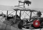 Image of Twin Lewis machine guns installed on DH-4 airplane Scarff ring United States USA, 1918, second 2 stock footage video 65675048411